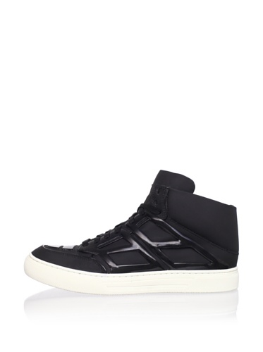 Alejandro Ingelmo Men's Tron Mid-Top with Panels (Black/Black Canvas)
