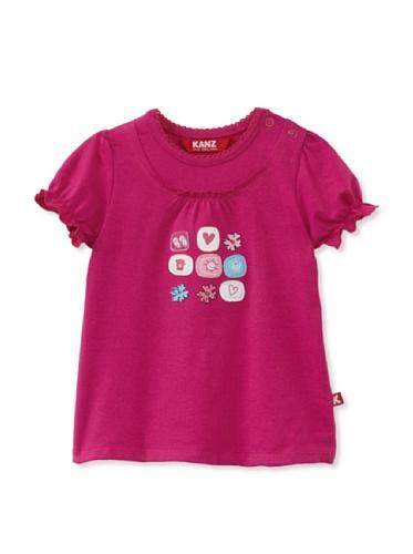 KANZ Baby Short Sleeve Tee (Rose/Violet)