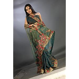 Sarees - NET CUT PASTE LENGHA STYLE READY TO WEAR SARE
