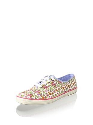 Keds Women's Champion Floral Fashion Sneaker (White)