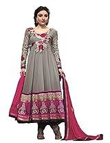 Adah Semi Stitched Georgette Salwar Kameez -439-1044