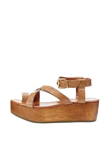 Madison Harding Women's Suzie Flatform Sandal (Brown)