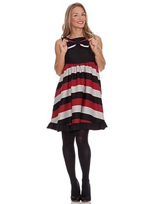 Divina Providencia Vestido Lazo (Negro/Rojo)