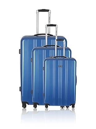 Travel ONE Set de 3 trolleys rígidos Badon Azul