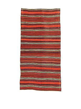 Design Community By Loomier Teppich Kilim Caucasico rot/mehrfarbig 146 x 309 cm