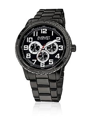 August Steiner Reloj con movimiento cuarzo japonés Man AS8060BK 45 mm