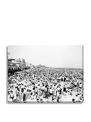 Photos.Com By Getty Images Beach Crowd At Coney Island By H. Armstrong Roberts On Canvas