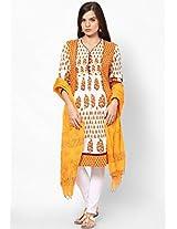 Hand Block Print Cotton Dupatta