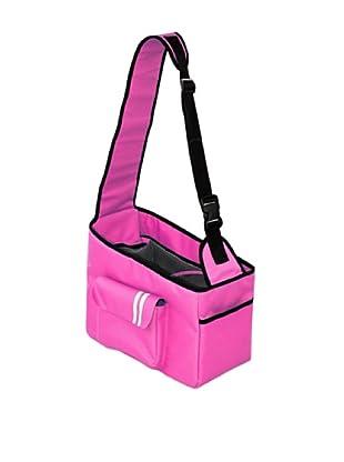 Pet Life Hands-Free Summit Shoulder Dog Carrier, Pink/Black, Medium