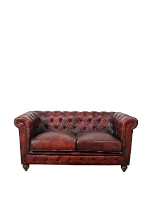 Chesterfield Loveseat, French Roast
