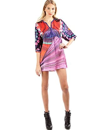 Custo Vestido Natalie Long Flux (Morado)