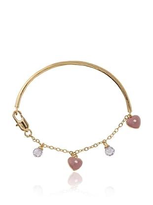 Frida Girl Hearts and Crystals Bracelet (Gold/Pink/Purple)