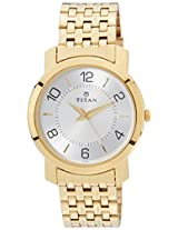 Titan Analog Silver Dial Men's Watch - 1645YM01