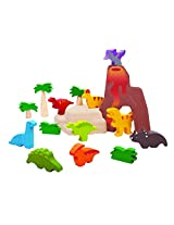 Plan Toys 6621 Dinosaurs Set Toy Figure