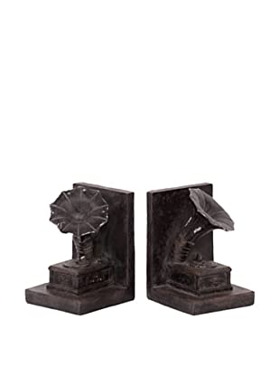 Urban Trends Collection Gramophone Bookends