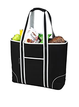 Picnic at Ascot Extra Large Insulated Cooler Tote (Black)