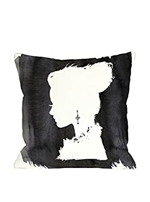 Oliver Gal Beauty Pillow, Black/White