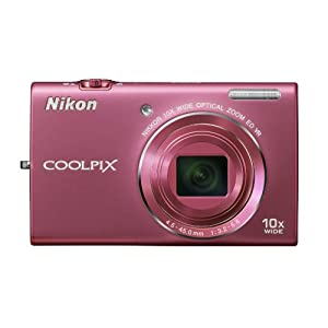 Nikon COOLPIX S6200 16 MP Digital Camera with 10x Optical Zoom NIKKOR ED Glass Lens and HD 720p Video (Pink)