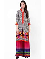Multi Color Printed Palazzo Suit