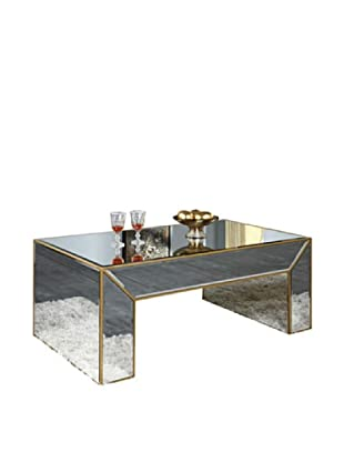 Manhattan Mirrored Coffee Table, Gold Leaf