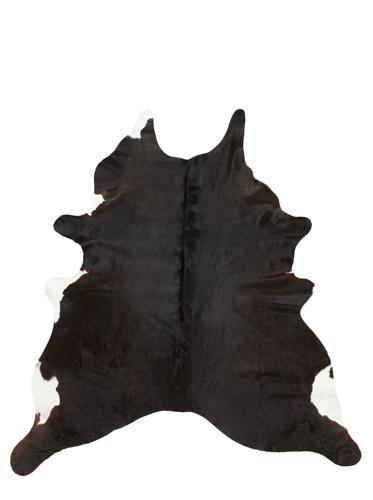 Shaped Hide Black Rug, 7' x 6'