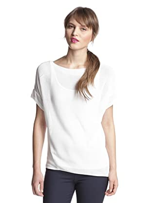 Elie Tahari Women's Gigi Asymmetrical Hem Sweater (White)