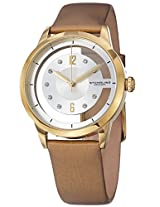 Kenneth Jay Lane Women's KJLANE-2114 Chronograph Mother-Of-Pearl Dial and Brown Tortoise Resin Watch