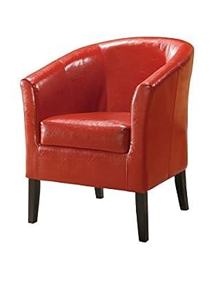 Linon Home Décor Simon Club Chair, Red