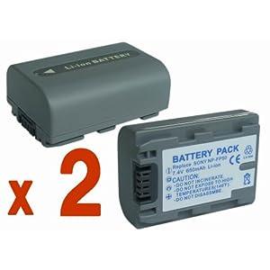 Amazon.co.jp|『2個セット』 SONY NP-FP50 互換 バッテリー の 2個セット HDR-HC3 DCR-HC41 CR-HC46 DCR-DVD203 DCR-SR100 等対応|カメラ通販