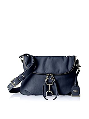 POVERTY FLATS by rian Women's Tunnel Flap Crossbody, Navy