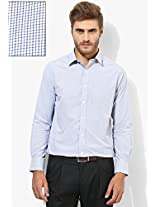 Blue Checks Regular Fit Formal Shirt Peter England