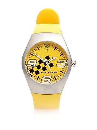 Ferrari Reloj de Acero Pitstop 12725 (Amarillo)