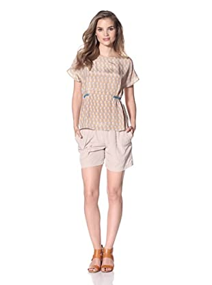 San & Soni Women's Charina Top (Triangle Print)