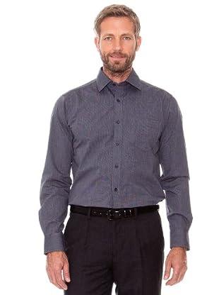 Cortefiel Camisa Micro Raya (Gris Marengo)