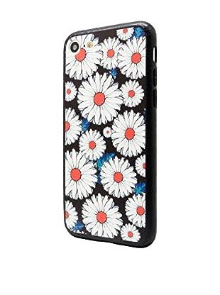 NUEBOO Hülle Flower iPhone 7 schwarz