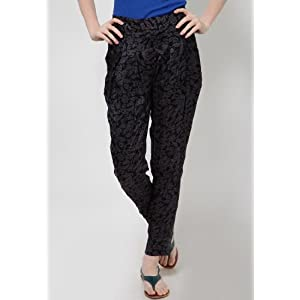 Black Printed Trousers
