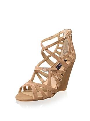 STEVEN by Steve Madden Women's Stellir Strappy Wedge Sandal (Cognac Suede)