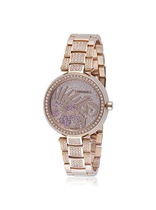 Versace Women's I9Q81D2HIF S081 Mystique Hibiscus Diamond, Gold & Stainless Steel Watch