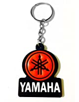 Keychain Yamaha Red Black Rubber Synthetic Metal Keyring-TF-165