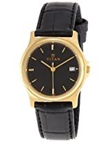 Titan Analog Black Dial Men's Watch - 389YL03