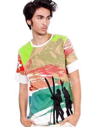 Custo Camiseta Tank Swiss (Blanco/Verde)