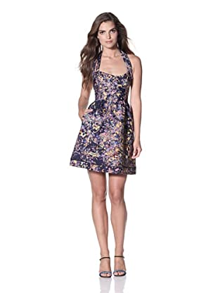 Cynthia Rowley Women's Bonded Spandex Party Dress (Navy Confetti)