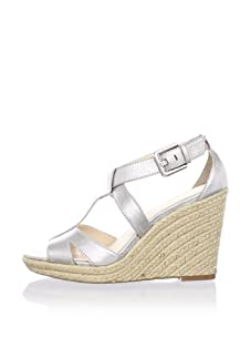 Calvin Klein Women's Emmah Open-Toe Espadrille (Dusty Metallic)