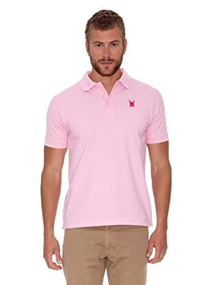 Polo Club Polo Custom Fit Escudo Liso (Rosa)