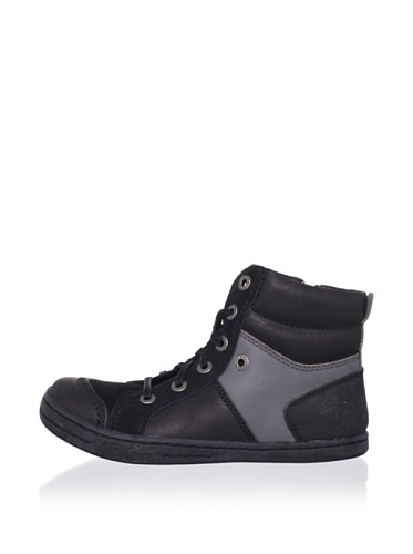 Kickers Kid's Jeeper-AW High Top Sneaker (Toddler/Little Kid) (Black)