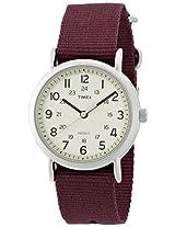 Timex Weekender Indiglo Analog Beige Dial Unisex Watch - T2P235
