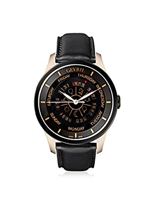 Gevril Men's 2004 Columbus Circle Black Leather Watch