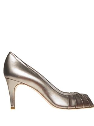 Magrit Zapatos Peep Toe (plata)