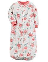 Carter's Baby Girls 'Sweet Roses' Fleece Sleepbag or Sleepsack 0-9 Months Ivory/Pink