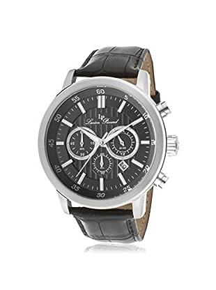 Lucien Piccard Men's 12011-014 Monte Viso Chronograph Grey/Black Leather Watch